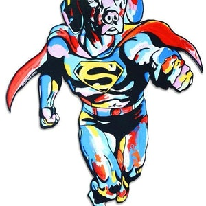 (CreativeWork) He was a bird, a plane... no, he was Super Dogman by Gillie and Marc Schattner. print. Shop online at Bluethumb.