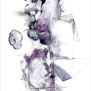 (CreativeWork) Remnant I by Netty Raff. watercolour. Shop online at Bluethumb.