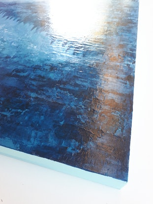 (CreativeWork) 'BAY OF HAMLET' by Simone Melville. Acrylic Paint. Shop online at Bluethumb.