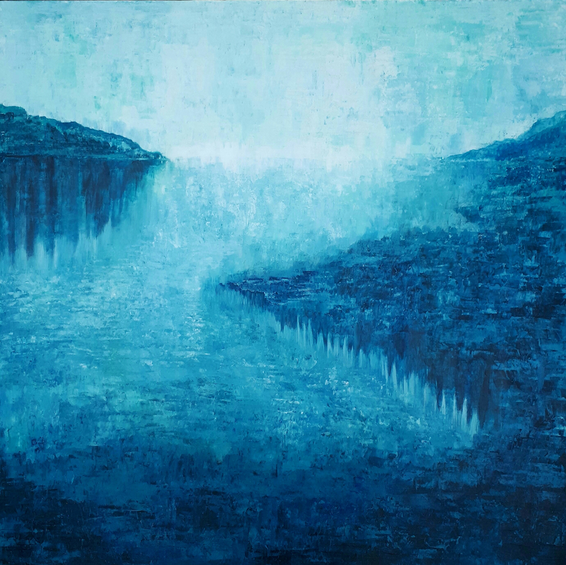 (CreativeWork) 'BAY OF HAMLET' by Simone Melville. arcylic-painting. Shop online at Bluethumb.