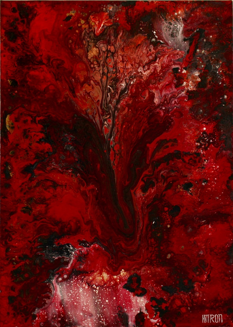 red marble 2 by imron paintings for sale bluethumb online art