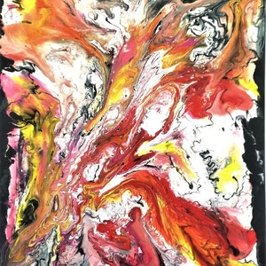 (CreativeWork) Nature Series - Eruption by Sung Lee. arcylic-painting. Shop online at Bluethumb.