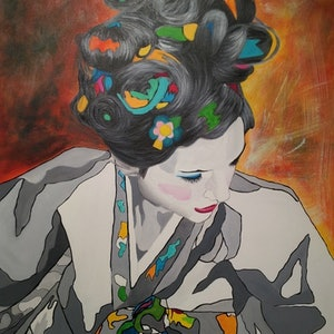 (CreativeWork) Lost Identity Katie #2 by Sung Lee. arcylic-painting. Shop online at Bluethumb.