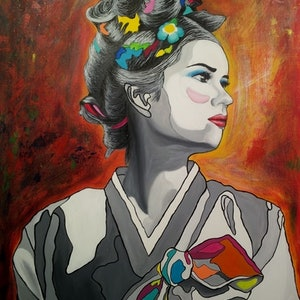 (CreativeWork) Lost Identity Katie #3 by Sung Lee. arcylic-painting. Shop online at Bluethumb.