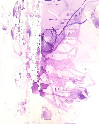 (CreativeWork) Nature Series Purple # 1 by Sung Lee. other-media. Shop online at Bluethumb.
