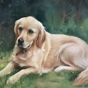 (CreativeWork) Golden Retriever  by Marianne Bindemanis. #<Filter:0x00007fcb1a5d5f88>. Shop online at Bluethumb.