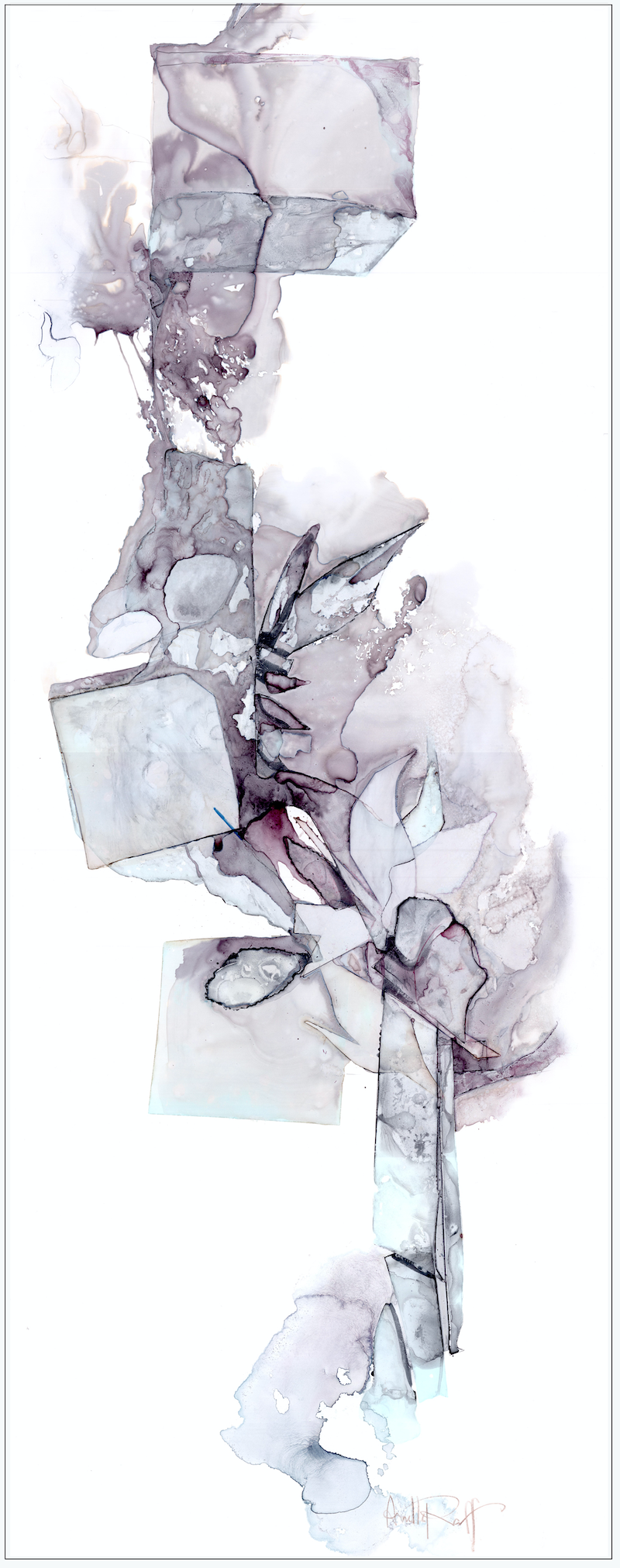 (CreativeWork) Remnant III by Netty Raff. watercolour. Shop online at Bluethumb.