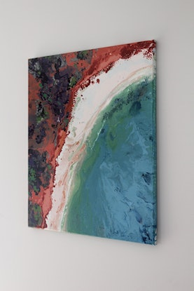 (CreativeWork) Aerial View 2 by Nic Everist. Acrylic Paint. Shop online at Bluethumb.
