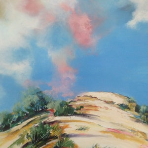 (CreativeWork) The Dune by Leanne Manns. arcylic-painting. Shop online at Bluethumb.