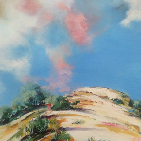 (CreativeWork) The Dune by Leanne Manns. Acrylic Paint. Shop online at Bluethumb.