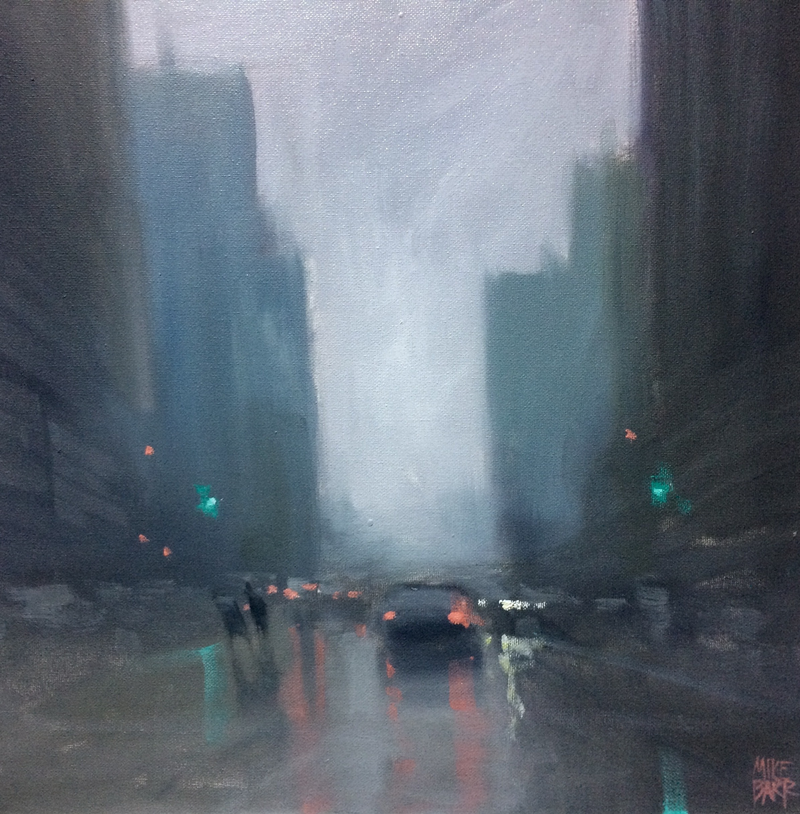 (CreativeWork) The Mystery of Rain by Mike Barr. Oil Paint. Shop online at Bluethumb.