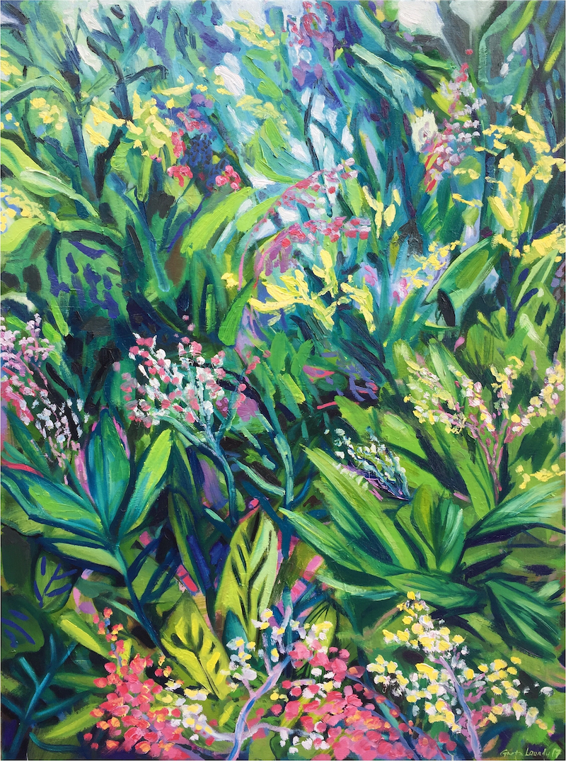 (CreativeWork) Jungle Heart by Greta Laundy. oil-painting. Shop online at Bluethumb.