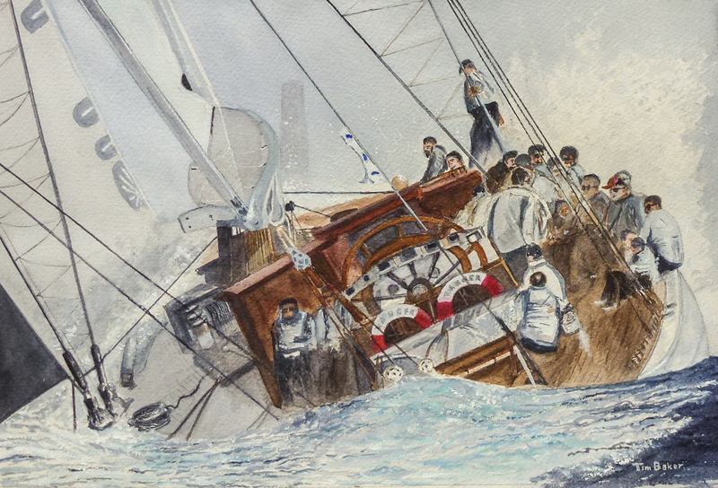 (CreativeWork) Mark ahead - Starboard Bow by Tim Baker. watercolour. Shop online at Bluethumb.