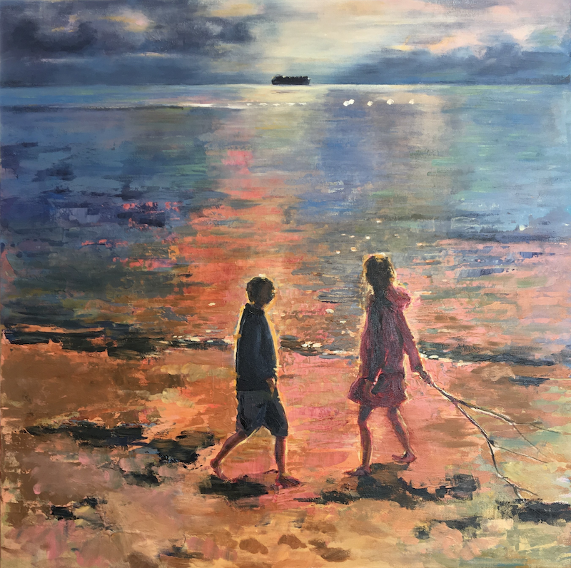 (CreativeWork) One day, one day, you and me by Narelle Callen. arcylic-painting. Shop online at Bluethumb.