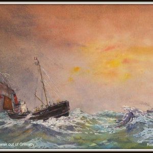 (CreativeWork) Steam Trawler out of Grimsby by Ron Farnill. #<Filter:0x00007fe8363d8210>. Shop online at Bluethumb.