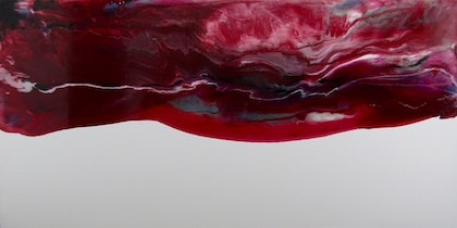 (CreativeWork) Red Sky by Vera Ioannidi. resin. Shop online at Bluethumb.