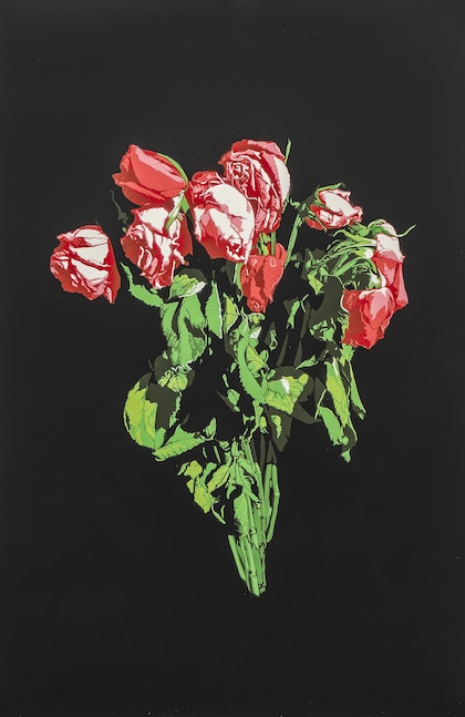 (CreativeWork) Roses - Edition Number 1 of 5 by Logan Moody. arcylic-painting. Shop online at Bluethumb.