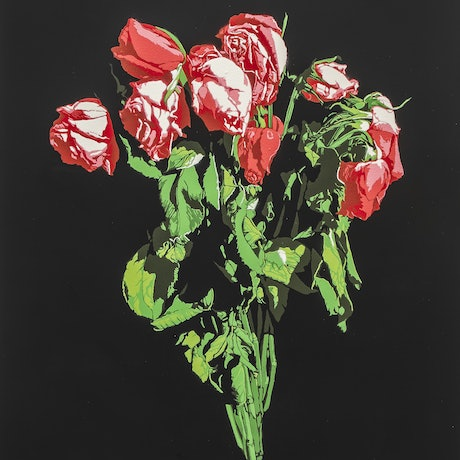 (CreativeWork) Roses - Edition Number 1 of 5 by Logan Moody. Acrylic Paint. Shop online at Bluethumb.