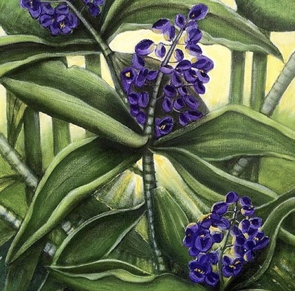(CreativeWork) Understory Glory by Tracey Knowland. Oil Paint. Shop online at Bluethumb.