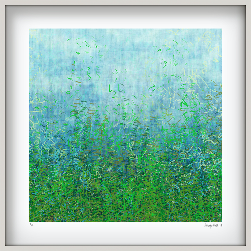 (CreativeWork) 'French Garden' in white box frame   Ed. 2 of 75 by George Hall. print. Shop online at Bluethumb.
