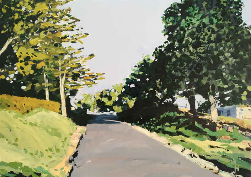 (CreativeWork) Coopers Shoot Road 3 by Meredith Howse. oil-painting. Shop online at Bluethumb.
