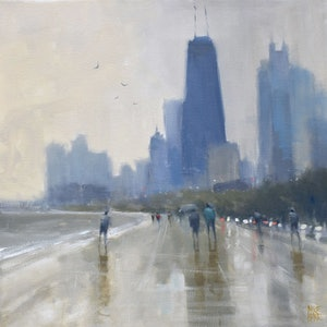 (CreativeWork) Summer Shower - Chicago by Mike Barr. #<Filter:0x00005621f7fca7f0>. Shop online at Bluethumb.