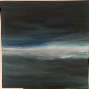(CreativeWork) Orphic  ocean soul  by Miss Rose. arcylic-painting. Shop online at Bluethumb.