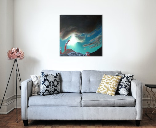 (CreativeWork) Domestic bliss by Nerrida Parfitt. Oil Paint. Shop online at Bluethumb.