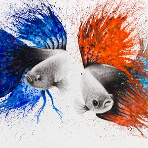 (CreativeWork) Love At First Sight by Ashvin Harrison. arcylic-painting. Shop online at Bluethumb.