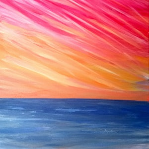 (CreativeWork) Sunset Symphony by Dynan Nikieran. arcylic-painting. Shop online at Bluethumb.
