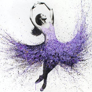 (CreativeWork) French Lavender Dance by Ashvin Harrison. mixed-media. Shop online at Bluethumb.