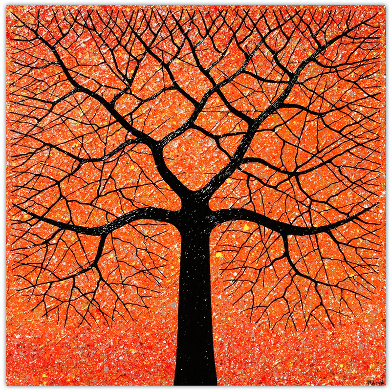 (CreativeWork) Sunset Tree (vs 2) by Miranda Lloyd. mixed-media. Shop online at Bluethumb.