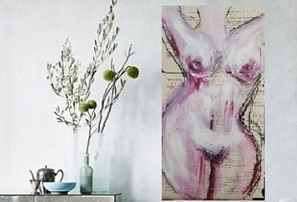 (CreativeWork) Entice-No.2 by Scarlet Burke. mixed-media. Shop online at Bluethumb.