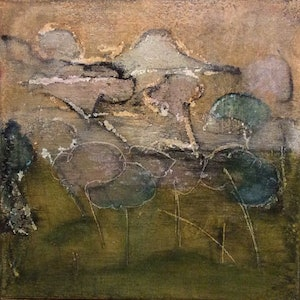 (CreativeWork) New Beginnings by Kathy Best. mixed-media. Shop online at Bluethumb.