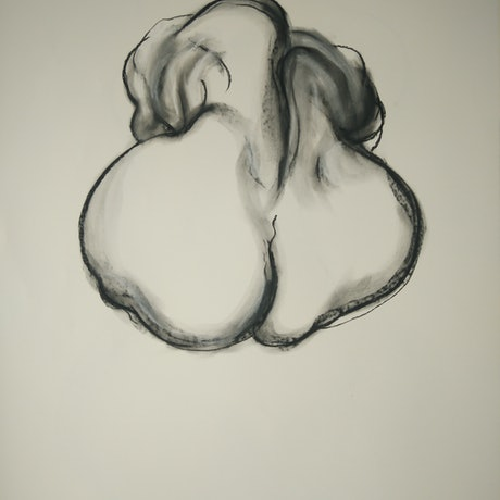 (CreativeWork) Seated Nude by Yehoshua Viles. Drawings. Shop online at Bluethumb.