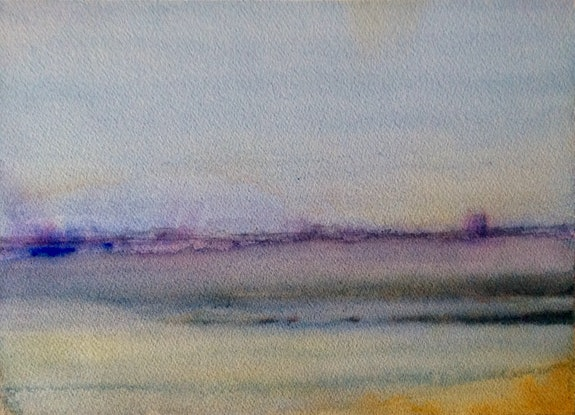 (CreativeWork) Hobsons Bay , Williamstown , Melbourne. by Geoff Stanistreet. Watercolour. Shop online at Bluethumb.