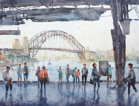 "(CreativeWork) ""Next Stop: Circular Quay"" by Chrysovalantou Mavroudis. #<Filter:0x00007fa57cccd5c0>. Shop online at Bluethumb."