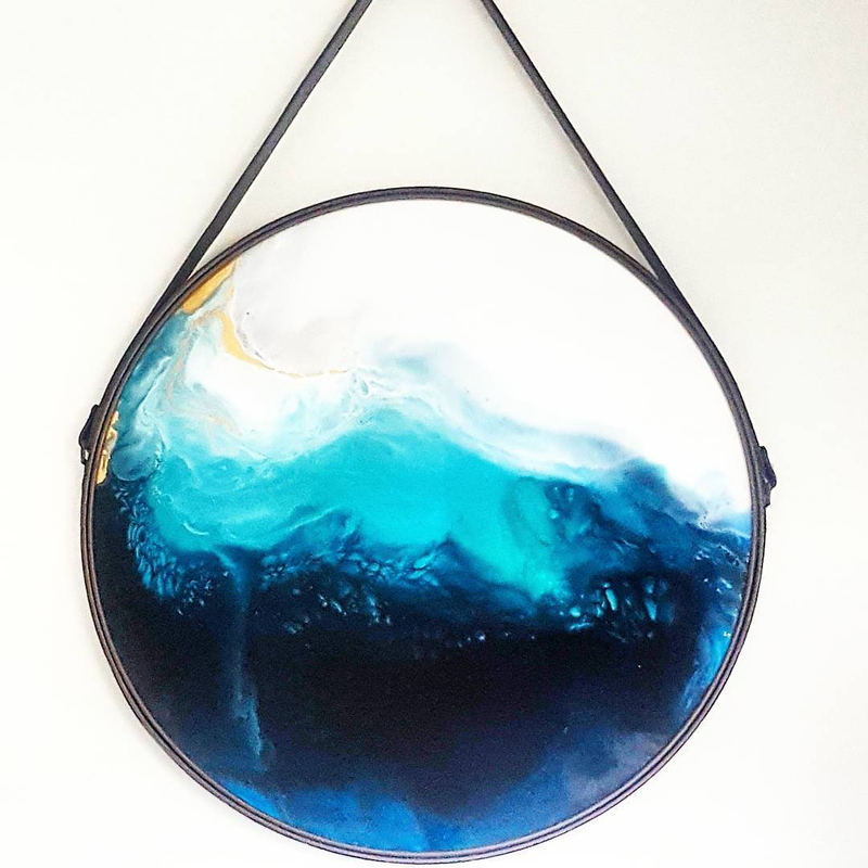 (CreativeWork) Blue Abyss by Rhianna Gray. resin. Shop online at Bluethumb.