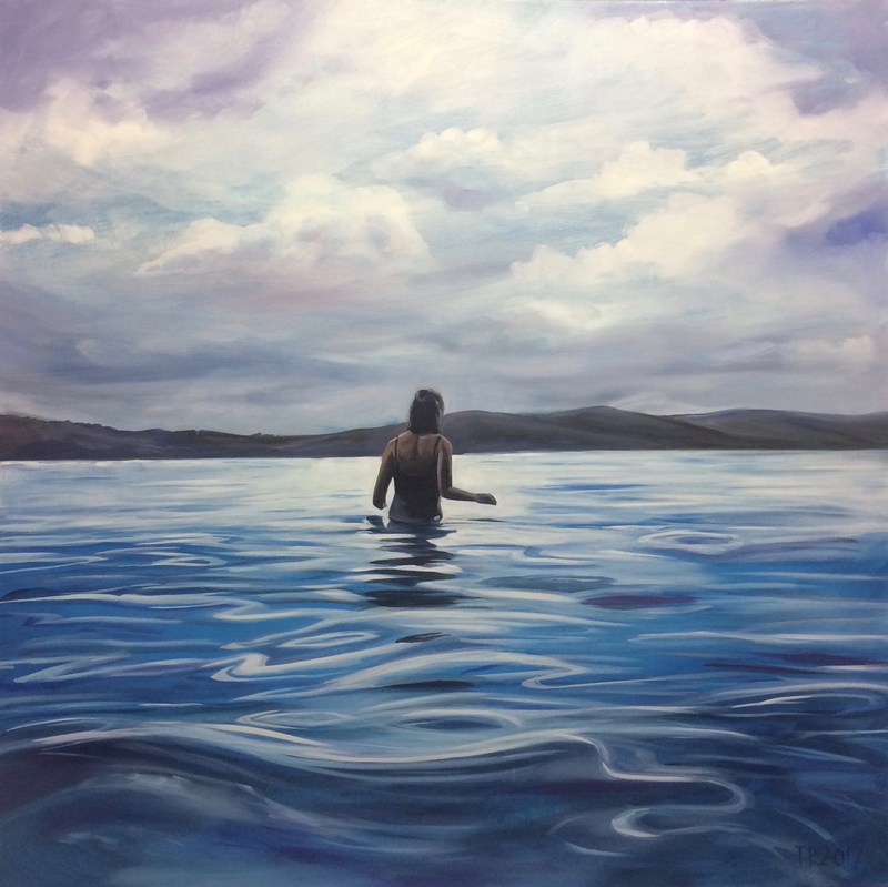 (CreativeWork) Into The Deep by Tom Parsons. oil-painting. Shop online at Bluethumb.