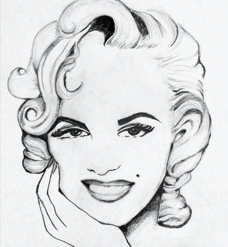 (CreativeWork) Marilyn Pencil by Trish Loader. drawing. Shop online at Bluethumb.