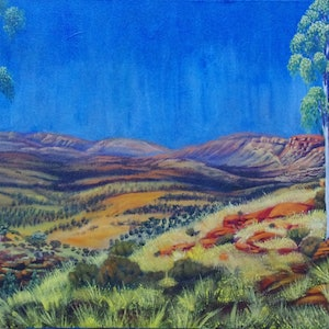 (CreativeWork) Enduring II by Joanne Hill. arcylic-painting. Shop online at Bluethumb.