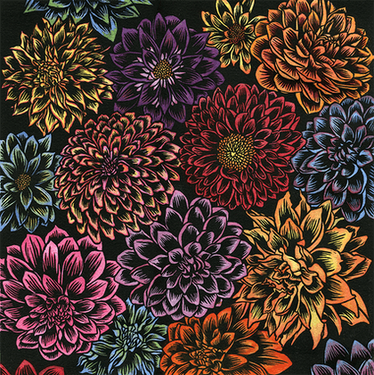 (CreativeWork) Floral Fiesta Ed. 1 of 1 by Katherine Appleby. print. Shop online at Bluethumb.