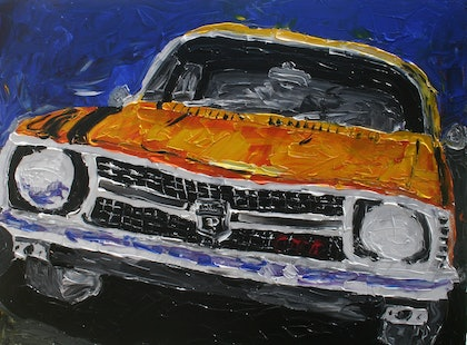 (CreativeWork) Monaro by Patrick Brady. arcylic-painting. Shop online at Bluethumb.