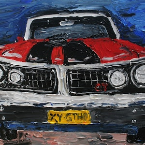 (CreativeWork) Ford GTHO by Patrick Brady. acrylic-painting. Shop online at Bluethumb.
