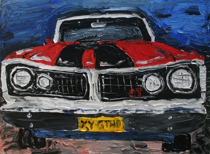 (CreativeWork) Ford GTHO by Patrick Brady. arcylic-painting. Shop online at Bluethumb.