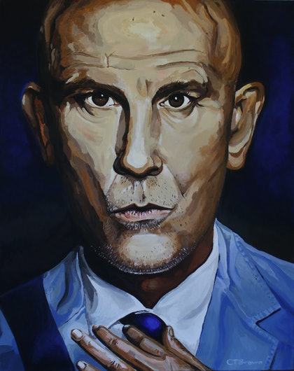 (CreativeWork) BLUE MALKOVICH by Craig Thomas Brown. arcylic-painting. Shop online at Bluethumb.