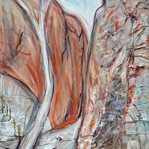 (CreativeWork) Stanley Chasm by William Holt. arcylic-painting. Shop online at Bluethumb.