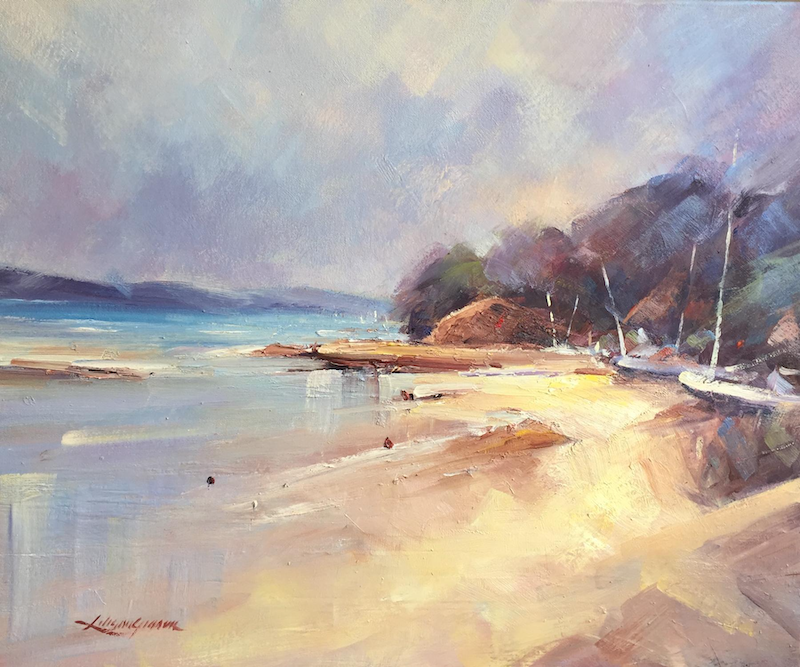 (CreativeWork) Seascape study #3 by Liliana Gigovic. oil-painting. Shop online at Bluethumb.