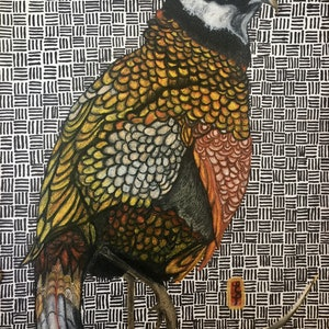 (CreativeWork) Augustus; The Autumn Bird by Erin Darmanin. drawing. Shop online at Bluethumb.