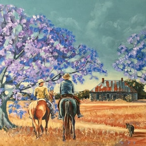 (CreativeWork) Homeward Bound by Robyn Gray. arcylic-painting. Shop online at Bluethumb.